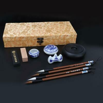 Chinese Traditional Calligraphy Set Brush Pen/Inkstone/Pen Rack/Seal Accessories