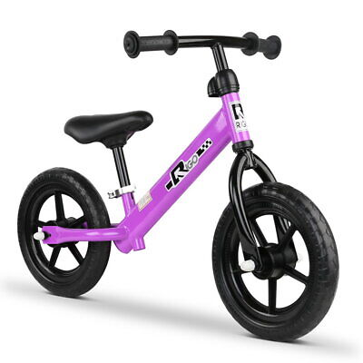 "RIGO 12"" Kids Balance Bike No Pedal Scooter Training Child Bicycle Purple"