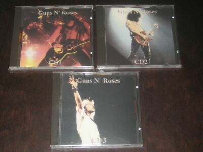 "Guns N' Roses rare '92 Italy only 3CD set ""Thompson 1880"" Paris July 6th 1992 NM"