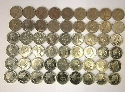 Australian 5 Cent Coin collection 1966 - 2019 (incl. New Effigy) - (54 Coins)