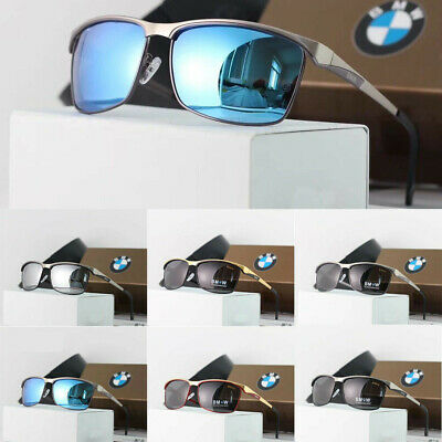 BMW Men's Sunglasses Polarized Classic UV400 Driving Outdoor Glasses With Box