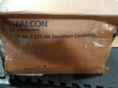 BD 354020 Falcon Polypropylene Sterile Sample Container without Lid, 8 oz Cap...