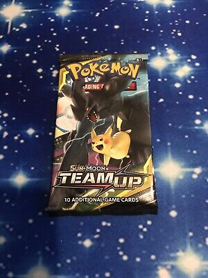 1 (ONE) Pokemon Team Up Booster Pack