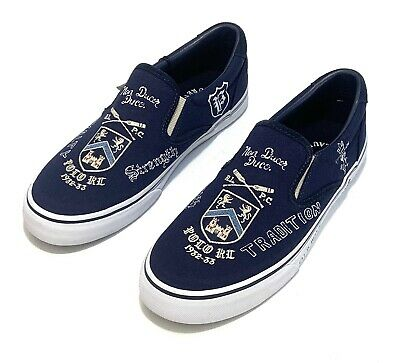 18125fd3 NEW POLO RALPH Lauren Mens Thompson III Canvas Slip On Boat Shoes ...