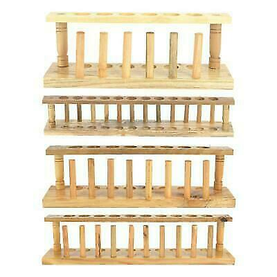 Profession 6/8/10/12 Holes Chemical Lab Test Tube Stand Wood With Drying Rack