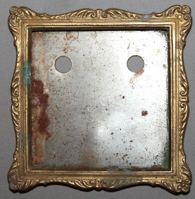 Vintage Brass Plated Wall Hanging Photo Frame