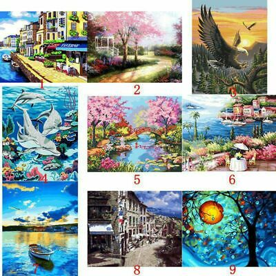 Canvas DIY Digital Oil Painting Kit Paint by Numbers No Frame Canvas Home Decors