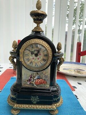 Lauris Gilt And Painted French Style Mantel Clock