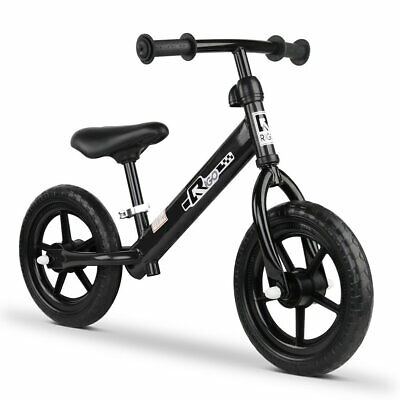 "RIGO 12"" Kids Balance Bike No Pedal Scooter Training Child Bicycle Black"