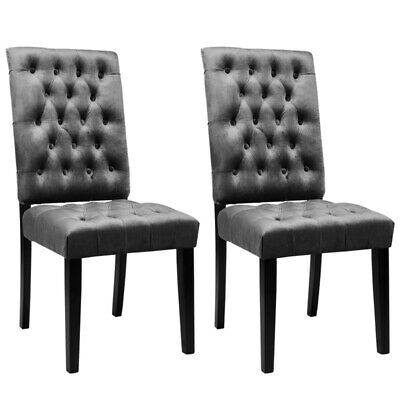 2 Seats Velvet Dining Chairs Accent Side Chair Kitchen Home Restaurant Furniture