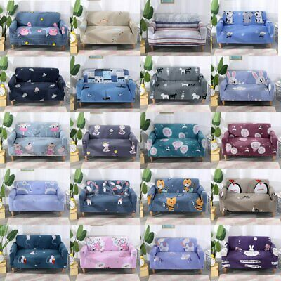 1/2/3/4 Seater Stretch Sofa Slipcover Pet Protector Couch Chair Cover 20 Colours