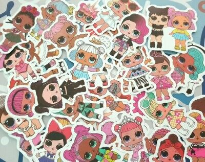 LOL Surprise Doll Random Lot of 12 Stickers Party Favors School Events +
