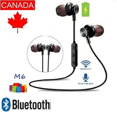 Wireless Bluetooth Sport Earphones Earbuds Stereo Headset With Mic For Android