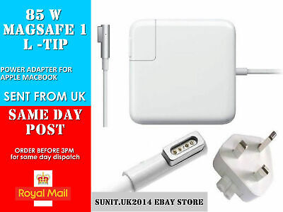 "85W Power Adapter Charger For Apple Mag safe 1 Mac Book Pro 15 17 "" A1297 A1172"