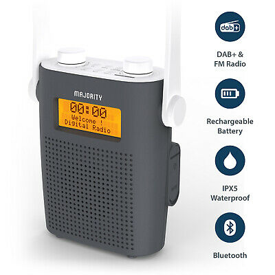Majority Eversden Shower Radio DAB+/FM Water Resistant IPX5 Bluetooth Speaker