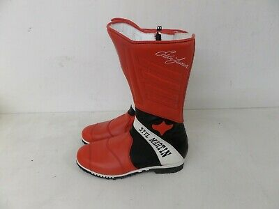 Stylmartin Motorcycle Motorbike Racing Boots - Red/Black 185 - Various Sizes