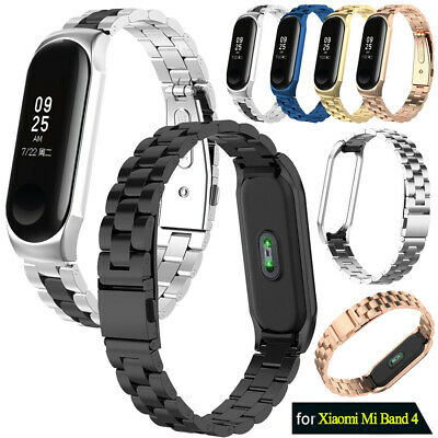 For Xiaomi Mi Band 4 2019 Metal Wrist Bracelet Stainless Steel Replacement Strap