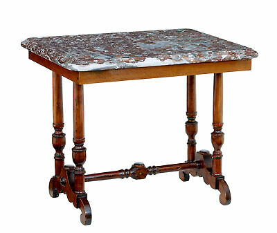 Late 19Th Century Mahogany Marble Top Side Table