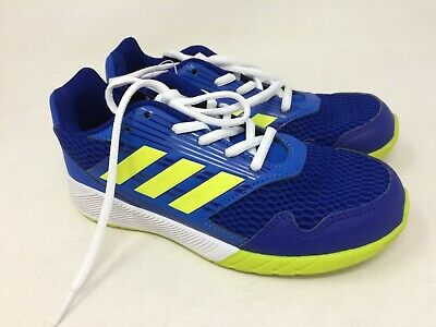 New w/defect Youth adidas S81068 AltaRun Running Shoes Blue/Lime 15M