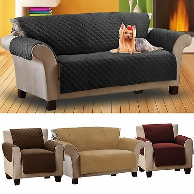 Luxury Quilted Pet Sofa Cover Furniture Throw Chair Stain Dust & Hair Protection