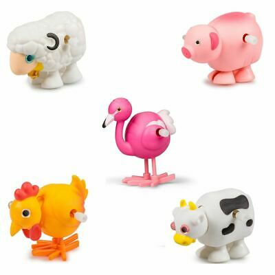 Traditional Clockwork Wind Up Cute Farm Animal Walking Toy Gift Party Bag Filler