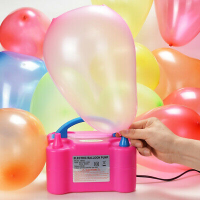Air Pump Portable Electric Double Balloon 600W Premium Inflator with UK Plug