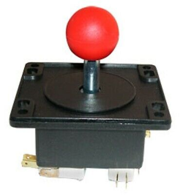 HAPP 4 way Red Ball Arcade Game Joystick Ball Ms PacMan Galaga Multicade Reunion
