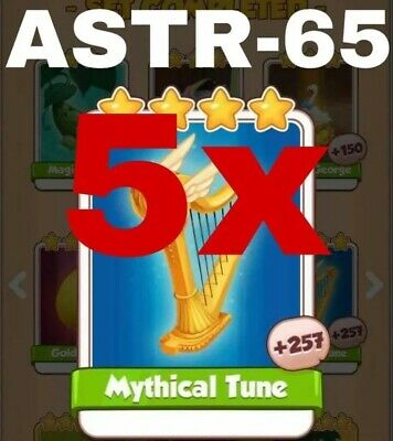 Coin Master Cards Pack Of 5 Mythical Tune Fast Delivery