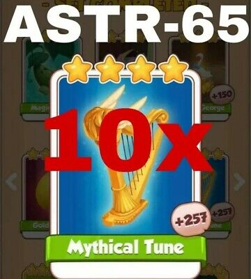 Coin Master Cards Pack Of 10 Mythical Tune Fast Delivery