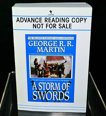 Signed A STORM OF SWORDS George R R Martin game of thrones UNCORRECTED PROOF ARC