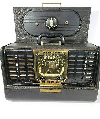 Vintage ZENITH TRANSOCEANIC G500 Ham Tube Portable Radio, Tested