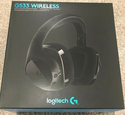 967120732fc Brand New Logitech G533 Wireless Black Dts 7.1 Surround Gaming Headset