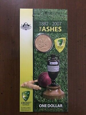 Australian 2007 The Ashes 1882-2007 $1 One Dollar Brilliant UNC RAM Carded Coin