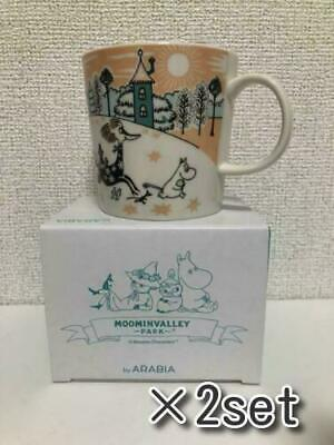 Moominvalley mug mag cup Arabia Moomin Valley Park Limited NEW Japan 2019 ×2set