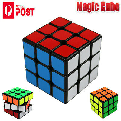 Magic Cube 3x3x3 Super Smooth Fast Speed Rubix Rubik Puzzle Competition Gift AU