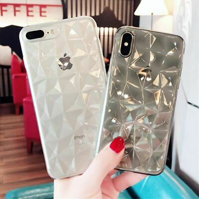 Diamond Texture Case For iPhone 6 6s 7 8 Plus X XR XS Max Soft Phone Cover for i