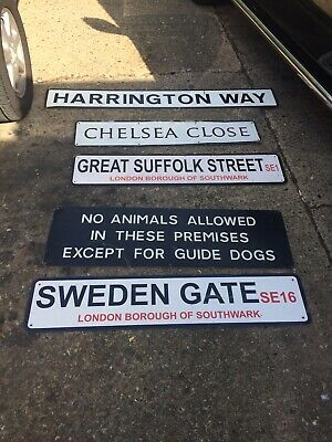 London Street Signs Metal Authentic Salvaged