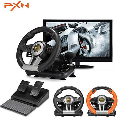 PXN V3II Racing Game Steering Wheel Braking Pedal for PC PS3 PS4 XboxOne Console