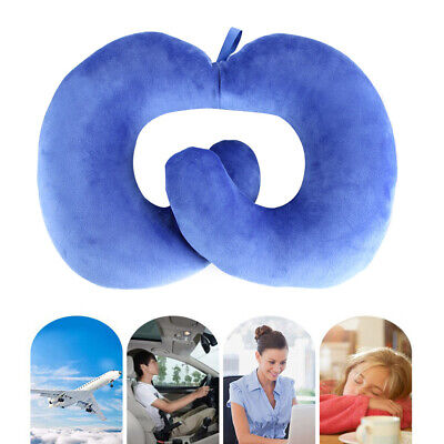 Neck Support Pillow Cushion Car Plane Travel Office Home Soft U Shaped Pillow