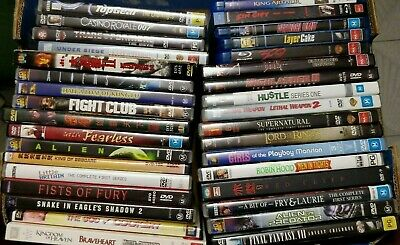 Bulk Lot of DVD &  Blu Ray Hollywood blockbuster Asian cult films Comedy Action