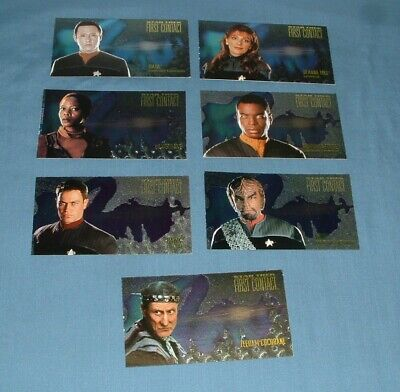 (7) Star Trek, 1St Contact, Chase Trading Cards - Skybox - 1996 - Exc. Cond.
