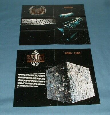 (2) Star Trek, 1St Contact, Blueprint Poster Cards - Skybox - 1996 - Exc. Cond.