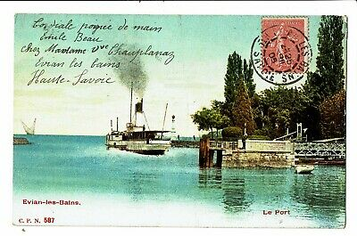 CPA - Carte postale- FRANCE-Evian- Son Port -1905 -VM4088
