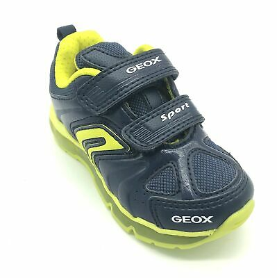 Geox Junior Kiwi Boys/' Trainers Red//Off White 50/% OFF RRP
