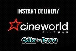 CINEWORLD cinema ticket / INCLUDES Leicester square / NO booking fee