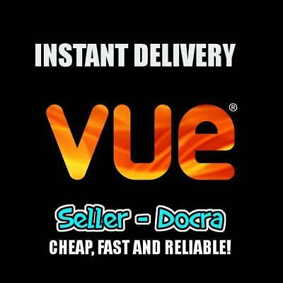 Vue cinema ticket / Includes Leicester square / No booking fees / Exp-April 2020