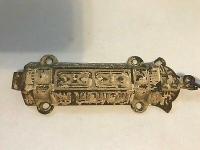 Old Cast Iron Cabinet Casement Window Transom Door Eastlake Victorian Latch Lock