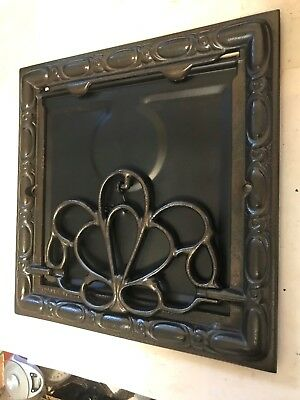 Rare Symonds Antique Art Craft Deco Victorian Cast Iron Wall Heat Grate Register