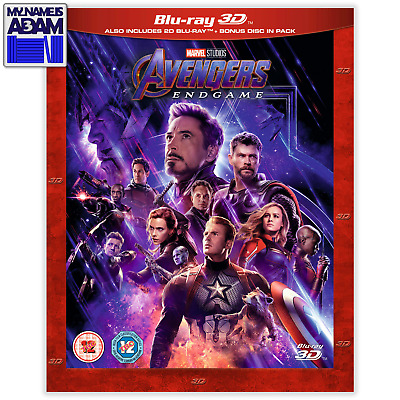 AVENGERS: ENDGAME Blu-ray 3D + 2D (REGION-FREE) PRE-ORDER NOW! TRUSTED US SELLER