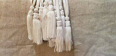 Liturgical Parament Embellishment Tassled Cord 9 Pcs White